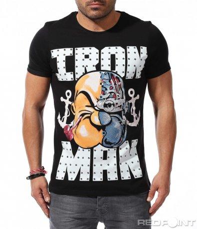 Тениска с нетипична щампа 9218