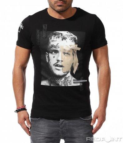 Тениска с авангардна щампа 9221