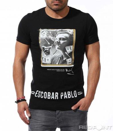 Ексцентрична тениска с щампа 9224