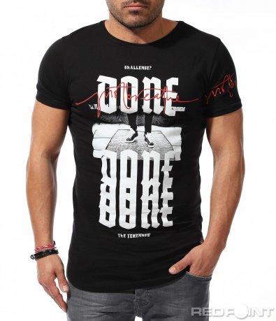 Стилна тениска с апликация 9227