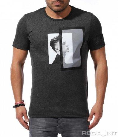 Тениска с декоративни елементи 9231