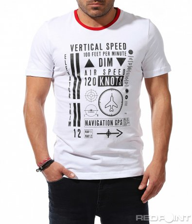 Ежедневна тениска с цветен акцент 9233