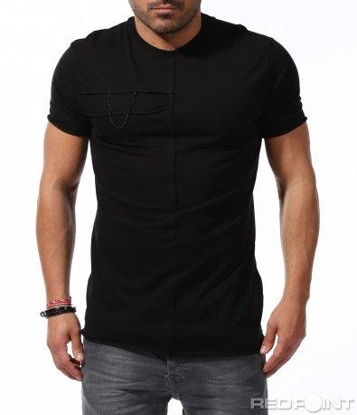 Ефектна тениска с декорация 9234