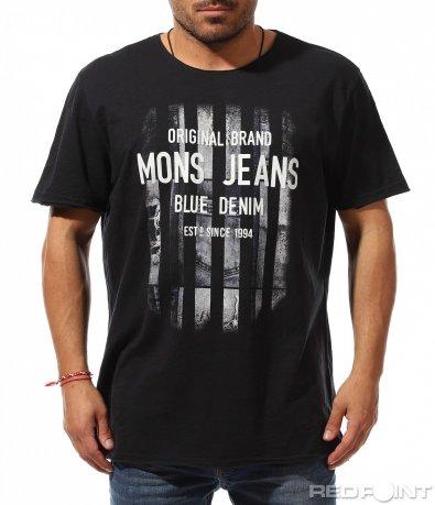 Свободна тениска в тъмно сив цвят 9252
