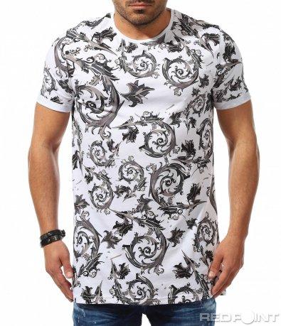 Впечатляваща тениска с орнаменти 9284