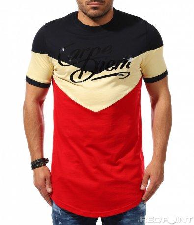 Тениска с long fit кройка 9287