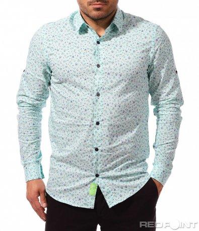 Свежа цветна риза 9311