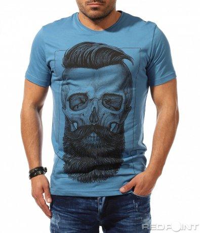 Екстравагантна тениска с щампа 9313