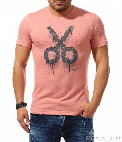 Свежа тениска с щура апликация 9314