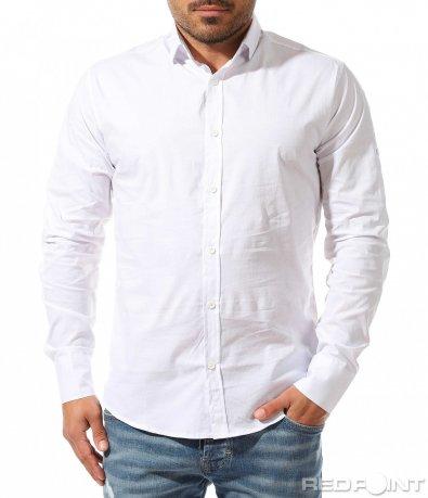 Едноцветна вталена риза 9338