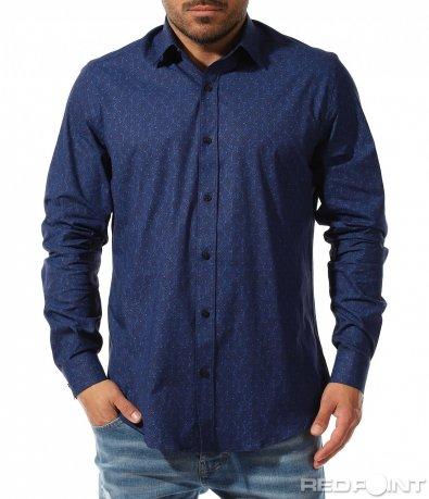 Ефектна риза в тъмен нюанс 9345