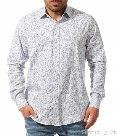 Бяла спортно елегантна риза 9347