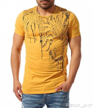 Цветна тениска с декоративен ефект 9364
