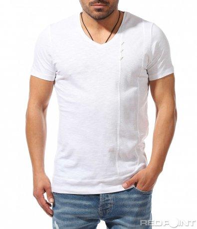 Актуална тениска със семпла декорация 9365