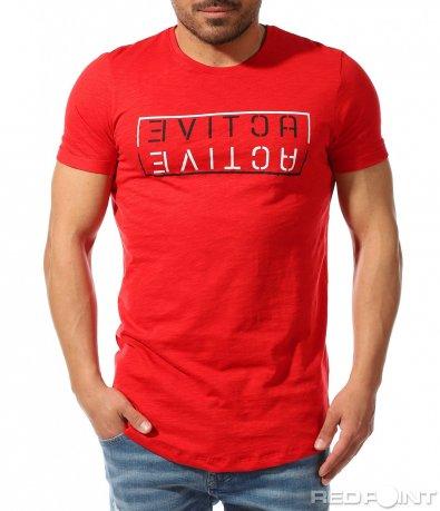 Тениска със семпъл надпис 9366