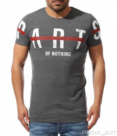 Вталена тениска с надпис 9229