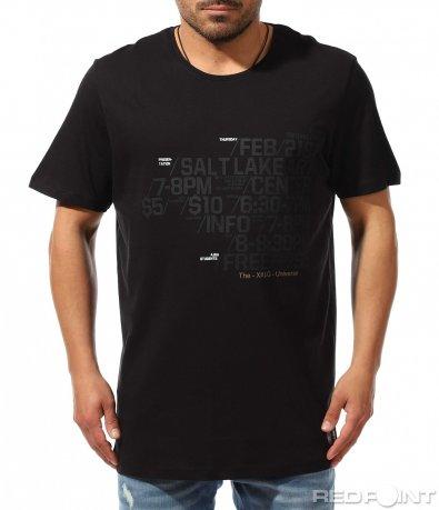 Ежедневна тениска с надписи 9375