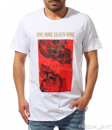 Автентична тениска с голяма щампа 9376
