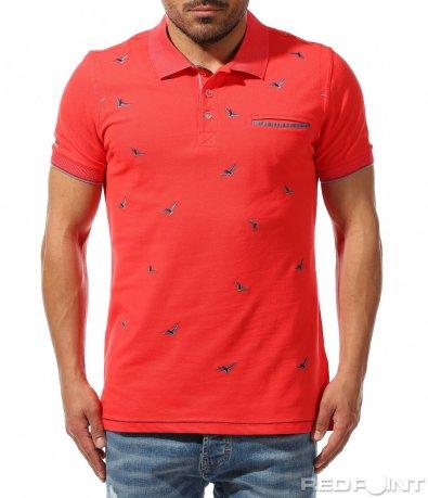 Лятна поло тениска с принт 9382