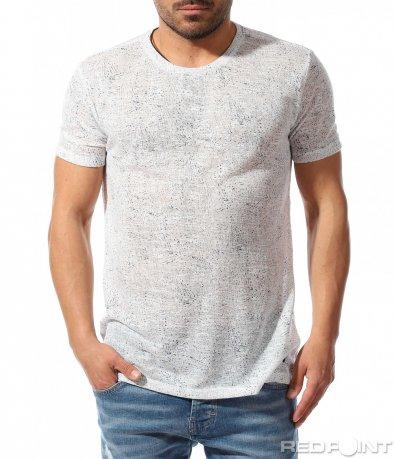 Casual тениска в бял цвят 9384