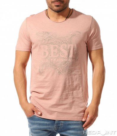 Свежа тениска с блед принт 9385