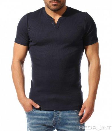 Семпла тениска с копчета 9390