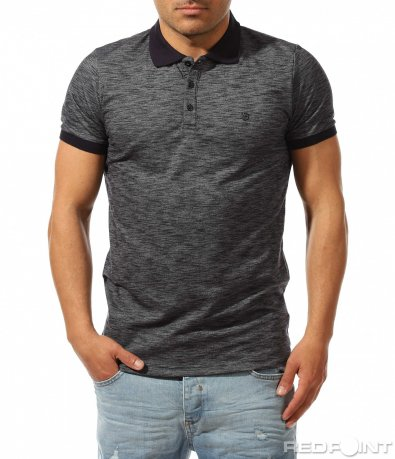 Тениска с яка в актуален нюанс 9421