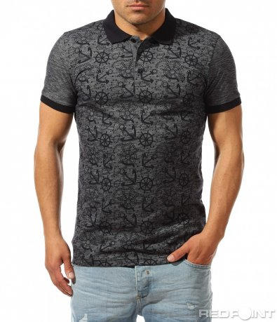 Спортно елегантна тениска с орнаменти 9422