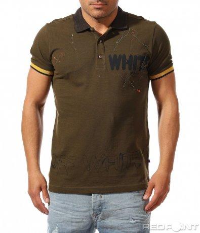 Стилна поло тениска с надпис 9424