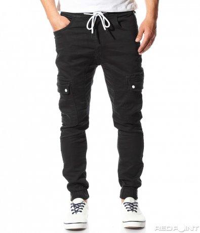 Спортен еластичен панталон с джобове 9441