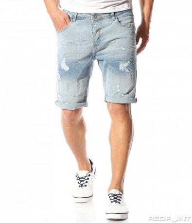Jeans ușor scurt cu patch-uri 9443