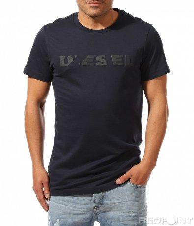 Класическа тениска с надпис Diesel 9462