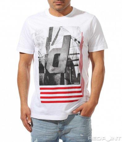 Качествена тениска с апликация 9464