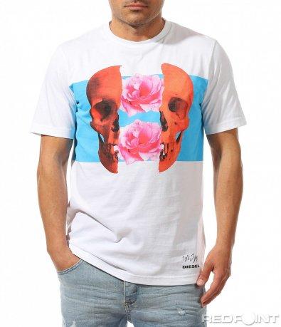 Класна тениска Diesel с цветна щампа 9465