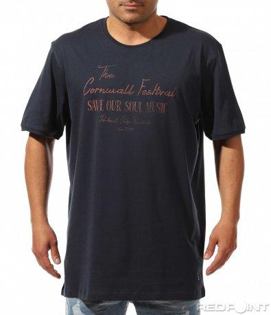 Тъмно син t-shirt с надписи 9448