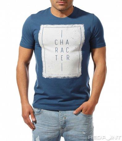 Тениска в наситен син цвят 9449