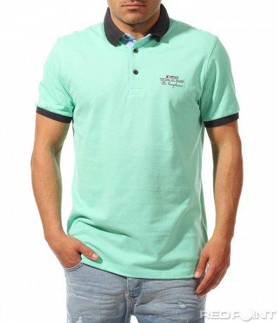 Поло тениска  ярък цвят 9450