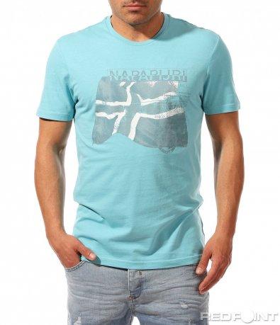 Светло син t-shirt с надпис 9457