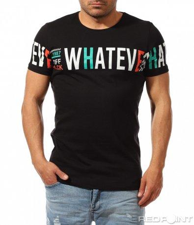 Едноцветна тениска с надпис 9471