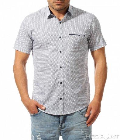 Лятна риза с къс ръкав 9481