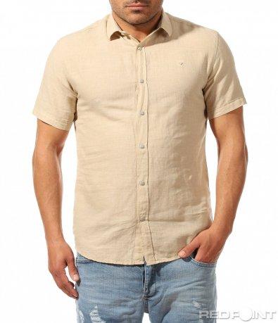 Едноцветна риза с къс ръкав 9482