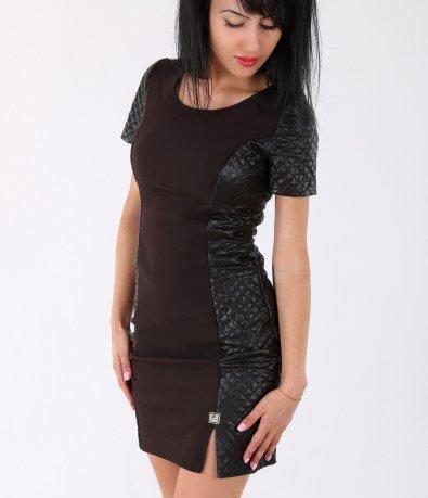 Дамска стилна кафява рокля 2072