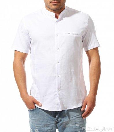Класическа риза с къс ръкав 9483