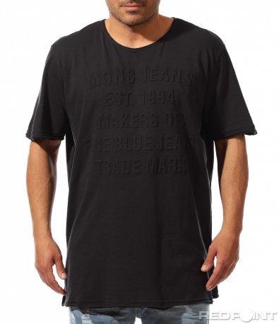 Семпла тениска с надписи 9489