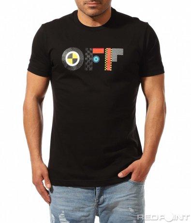 Тениска с цветен надпис 9495