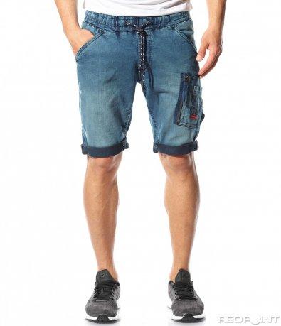 Спортни дънкови панталони с джоб 9522