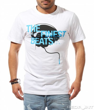 Тениска с ярък надпис music 9525