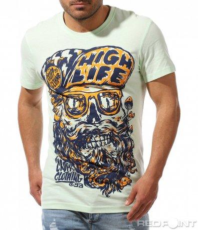 Ексцентрична тениска с голяма щампа 9517