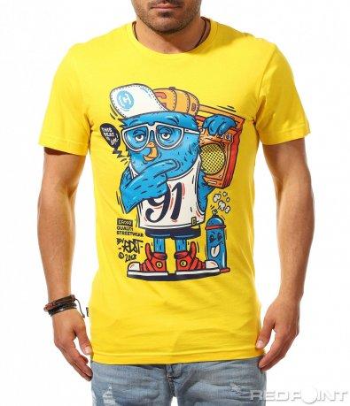 Свежа тениска с апликация 9524