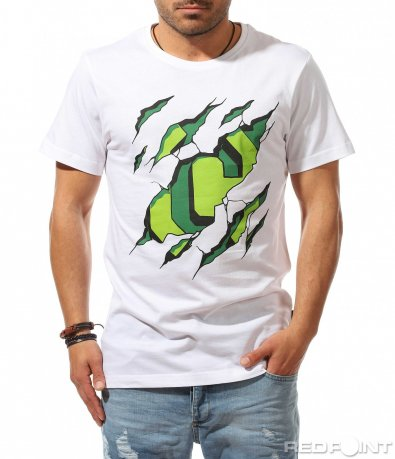 Лятна тениска с цветен акцент 9537